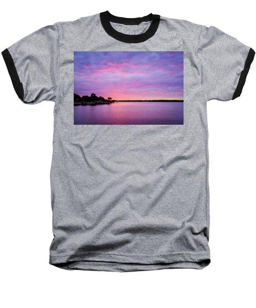 Sunset Lake Arlington Texas Baseball T-Shirt