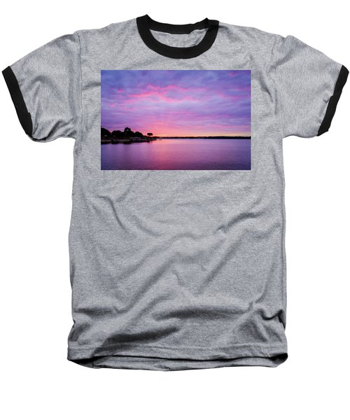 Sunset Lake Arlington Texas Baseball T-Shirt
