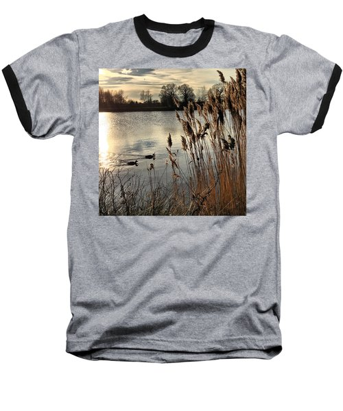Sunset Lake  Baseball T-Shirt