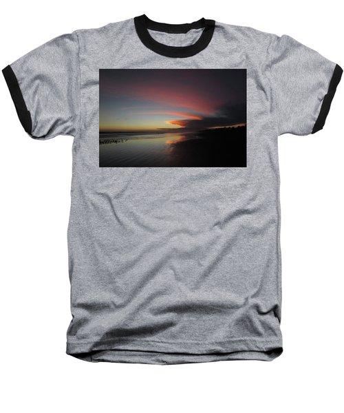 Sunset Las Lajas Baseball T-Shirt