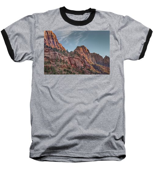 Baseball T-Shirt featuring the photograph Sunset Lighting At Zion by James Woody