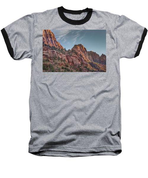Sunset Lighting At Zion Baseball T-Shirt