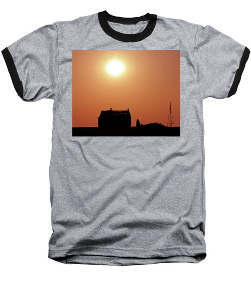 Baseball T-Shirt featuring the photograph Sunset Lonely by Christopher McKenzie