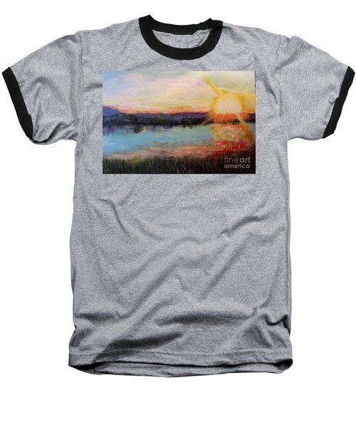 Baseball T-Shirt featuring the painting Sunset by Marlene Book