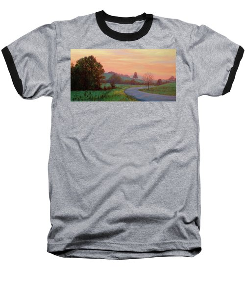 Sunset Meditation- In The Blue Ridge Mountains Baseball T-Shirt
