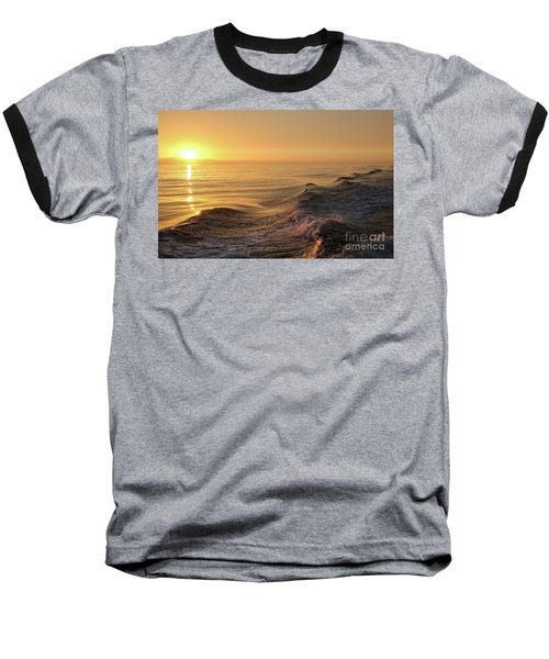 Sunset Meets Wake Baseball T-Shirt