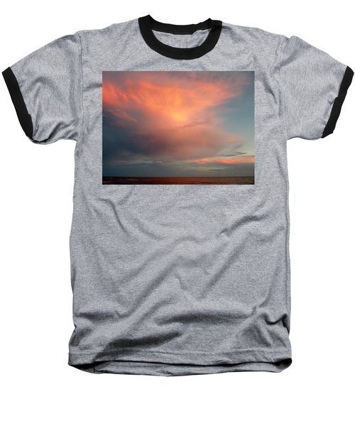 Sunset Moonrise Baseball T-Shirt