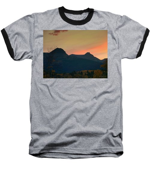 Sunset Mountain Silhouette Baseball T-Shirt