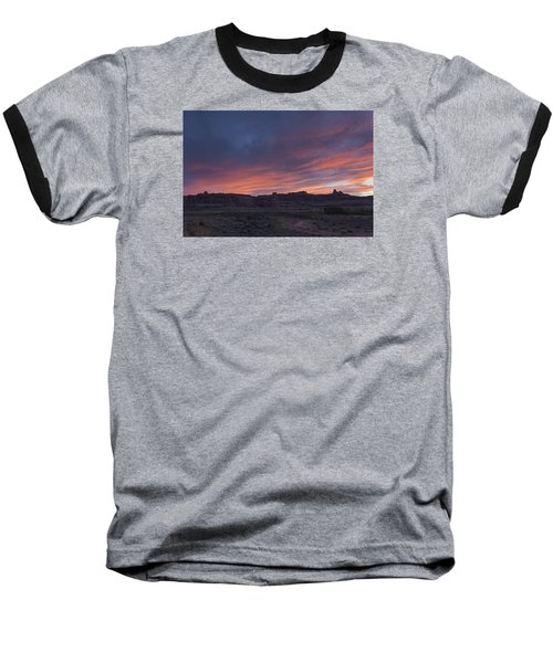 Sunset Near Court House Wash Baseball T-Shirt