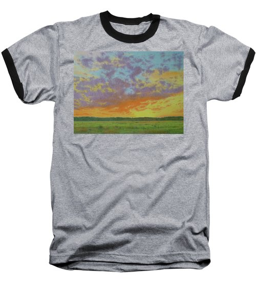 Sunset Near Miles City Baseball T-Shirt