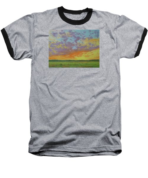 Sunset Near Miles City Baseball T-Shirt