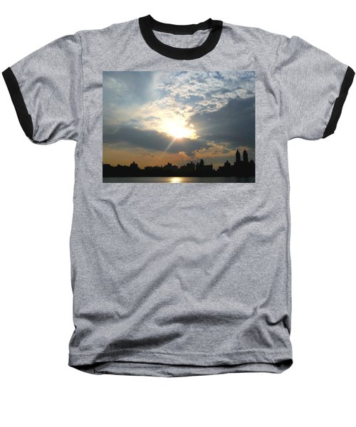 Sunset New York  Baseball T-Shirt