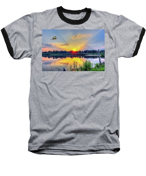 Sunset On A Chesapeake Bay Pond Baseball T-Shirt