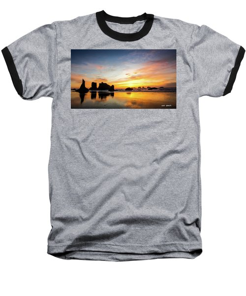 Sunset On Bandon Baseball T-Shirt