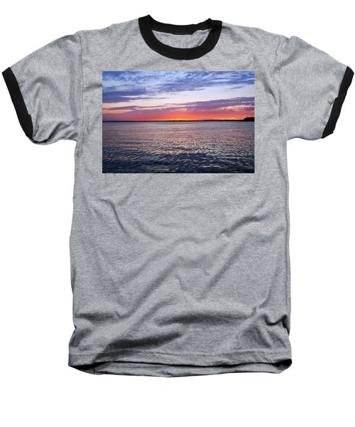 Sunset On Barnegat Bay I - Jersey Shore Baseball T-Shirt