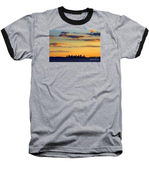 Sunset On Boston Baseball T-Shirt