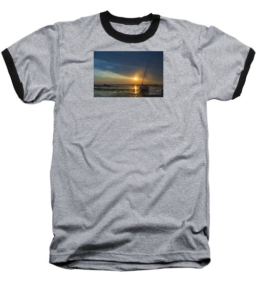 Sunset On Cape Cod Baseball T-Shirt by Diane Diederich