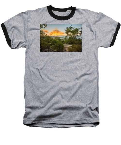 Sunset On Carmel Mountain 2 Baseball T-Shirt