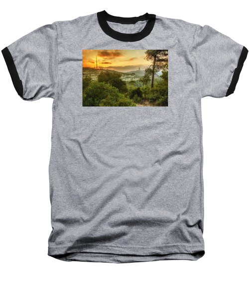Sunset On Carmel Mountain Baseball T-Shirt
