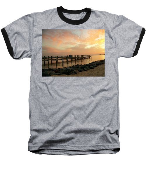 Sunset On Dewey Bay Baseball T-Shirt