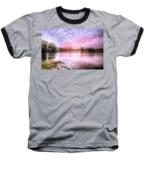 Sunset On Flint Creek Baseball T-Shirt by Maddalena McDonald
