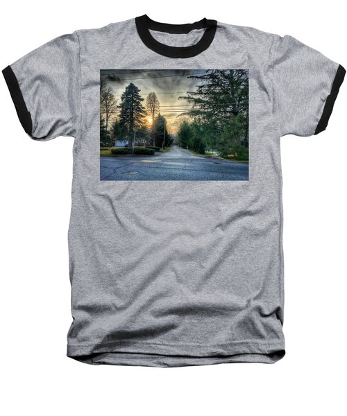 Sunset On Hilltop Drive Baseball T-Shirt