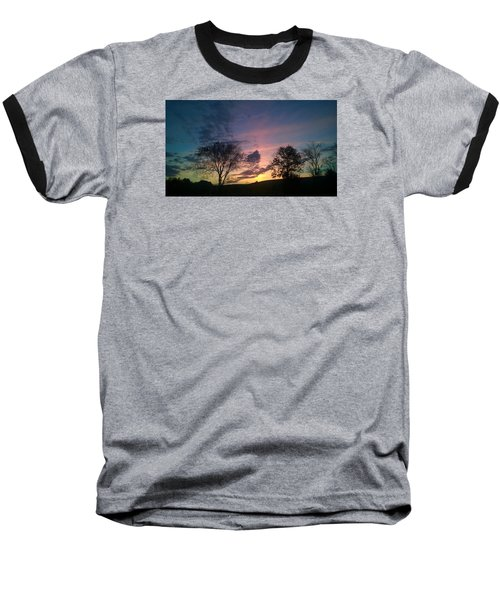 Sunset On Hunton Lane #12 Baseball T-Shirt