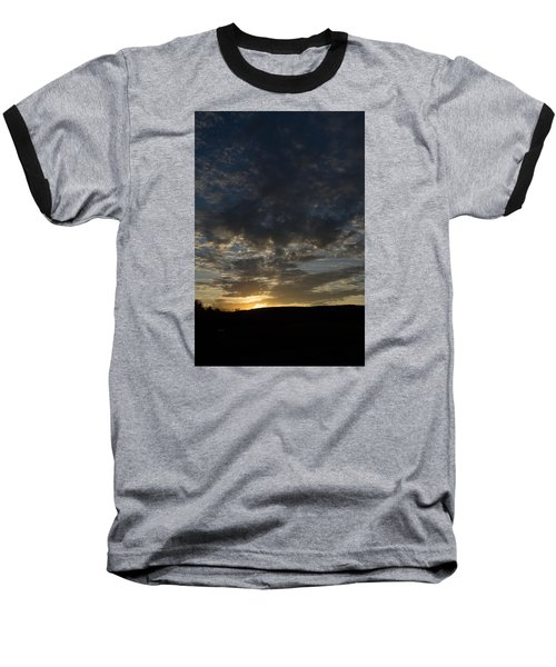 Sunset On Hunton Lane #2 Baseball T-Shirt