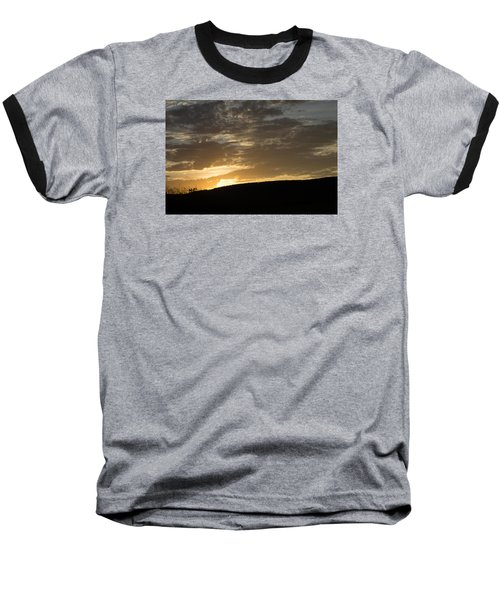 Sunset On Hunton Lane #3 Baseball T-Shirt