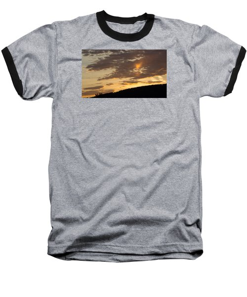 Baseball T-Shirt featuring the photograph Sunset On Hunton Lane #5 The Heart Knows by Carlee Ojeda