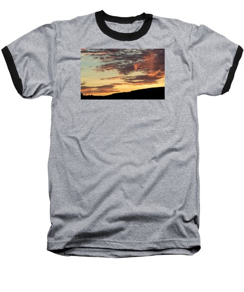 Baseball T-Shirt featuring the photograph Sunset On Hunton Lane #6 In The Company Of Angels by Carlee Ojeda