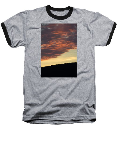 Sunset On Hunton Lane #8 Baseball T-Shirt