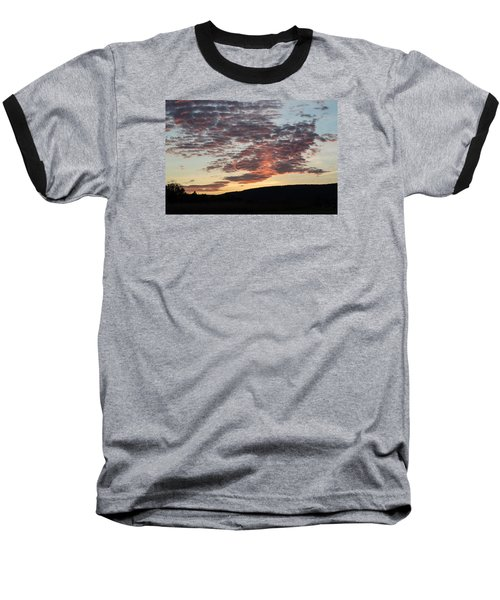 Sunset On Hunton Lane #9 Baseball T-Shirt