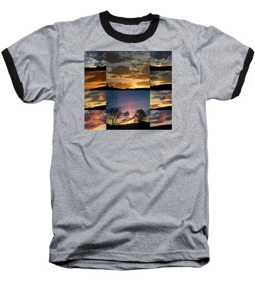 Sunset On Hunton Lane Baseball T-Shirt