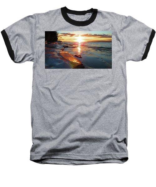 Sunset On Ice Baseball T-Shirt
