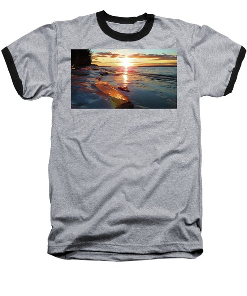 Sunset On Ice Baseball T-Shirt