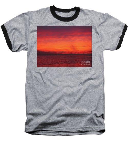 Sunset On Jersey Shore Baseball T-Shirt