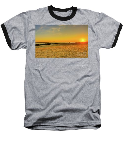 Sunset On Jockey Ridge Baseball T-Shirt