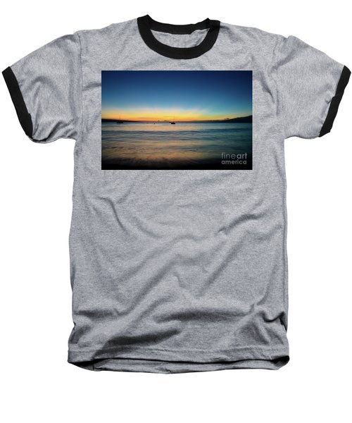 Baseball T-Shirt featuring the photograph Sunset On Ka'anapali Beach by Kelly Wade