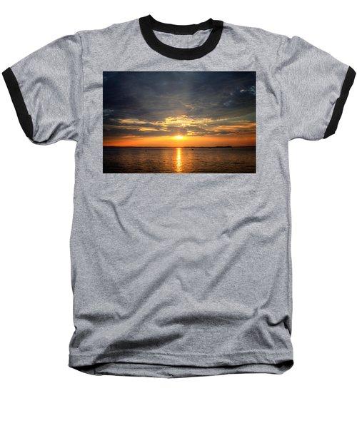 Sunset On Lake Hartwell Baseball T-Shirt