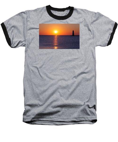 Sunset On Lake Michigan Baseball T-Shirt