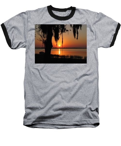 Sunset On Lake Minneola Baseball T-Shirt