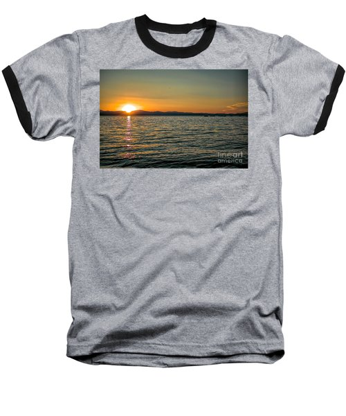 Sunset On Left Baseball T-Shirt