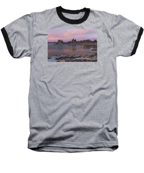 Sunset On Mono Lake Baseball T-Shirt by Sandra Bronstein