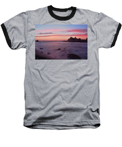 Baseball T-Shirt featuring the photograph Sunset On Monterey Bay by Dana Sohr