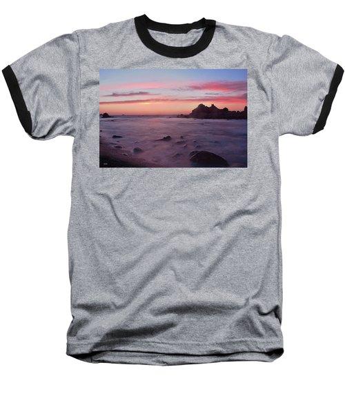 Sunset On Monterey Bay Baseball T-Shirt by Dana Sohr