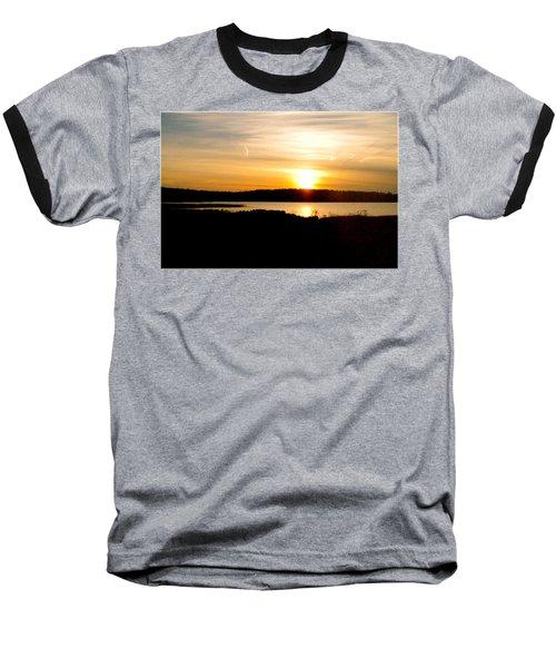 Sunset On Morrison Beach Baseball T-Shirt