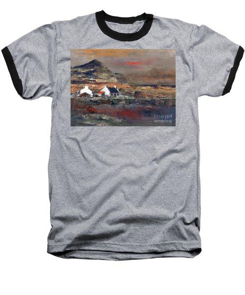 Sunset On Mount Errigal, Dunegal Baseball T-Shirt