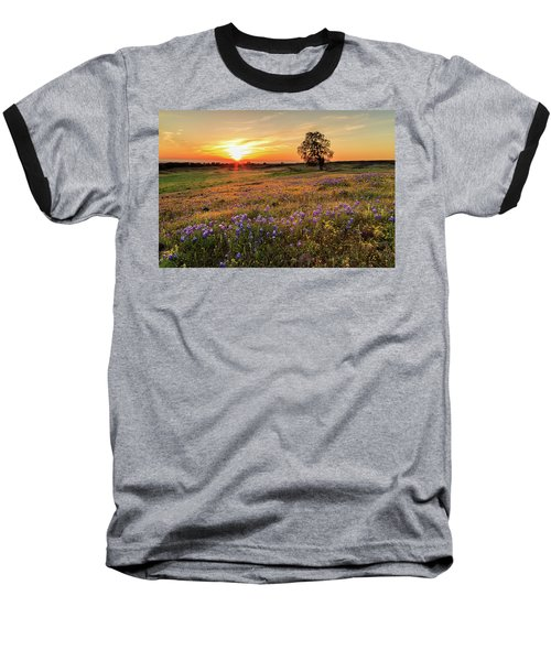 Sunset On North Table Mountain Baseball T-Shirt
