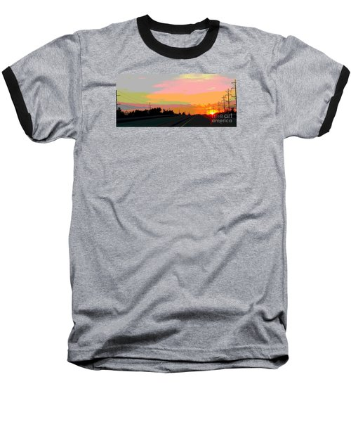 Sunset On Ol' 66 Baseball T-Shirt
